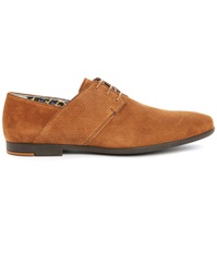 Paul And Joe Panama Brown Suede Dual Fabric Gum Sole Derbies