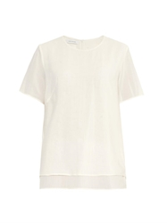 Cedric Charlier Asymmetric Cotton And Silk Blend Top