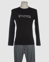 Playboy Long Sleeve T Shirts Black