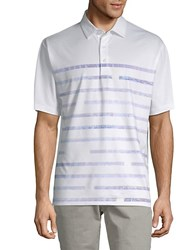 Callaway Striped Short Sleeve Polo Bright White