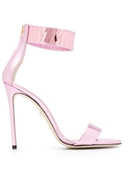 Grey Mer Leather Sandals Pink