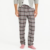 J.Crew Flannel Pajama Pant In Grey Plaid