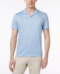 Alfani Men's Striped Cotton Polo Only At Macy's Pale Indig
