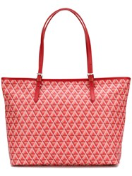 Lancaster Patterned Shopping Tote Red