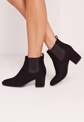 Missguided Low Heel Chelsea Ankle Boot Black Black
