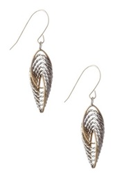 Candela 14K Yellow Gold And Sterling Silver Multi Oval Dangle Earrings Metallic