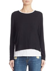 Generation Love Ellie Layered Sweater Black White