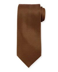 Stefano Ricci Square Grid Tie Orange Blue