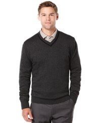 Perry Ellis Texture V Neck Sweater