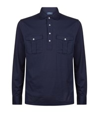 Polo Ralph Lauren Long Sleeve Military Jersey Top Male Navy