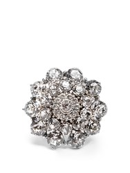 Oscar De La Renta Crystal Encrusted Ring