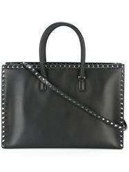 Valentino Rockstud Tote Women Leather Metal One Size Black