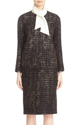 Lafayette 148 New York Women's 'Holland' Metallic Tweed Jacket Black Multi