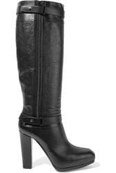 Belstaff Gainsborough Smooth And Textured Leather Boots Black