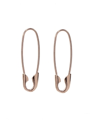 Loren Stewart Rose Gold Safety Pin Earrings