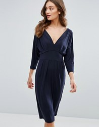 Only Greater Bat Wing Midi Dress Deep Well Black