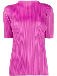 Issey Miyake Pleats Please Pleated Blouse Pink