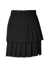 Ungaro Wool Crepe Pleated Skirt