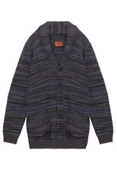 Missoni Knitted Shawl Cardigan With Leather Buttons