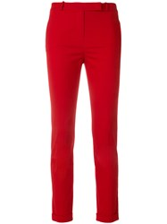 Loro Piana Cropped Skinny Trousers Red