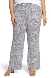 Foxcroft Plus Size Women's Dots And Dashes Flare Leg Pants