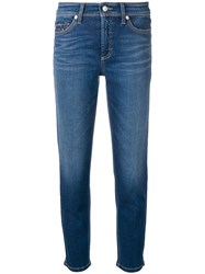 Cambio Cropped Jeans Blue