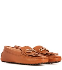Tod's Gommino Leather Loafers Brown