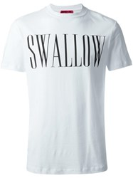 Mcq By Alexander Mcqueen Swallow Print T Shirt White