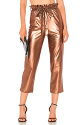 Line And Dot Kaya Paperbag Waist Pant Metallic Copper