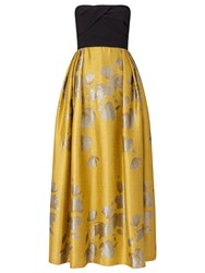 Ariella Gigi Bandeau Jacquard Skirt Dress Yellow