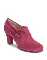 Aerosoles Starring Role Suede Booties Wine Fabric