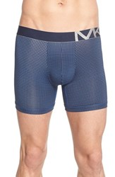 Men's Michael Kors Graphic Print Stretch Boxer Briefs Slate Blue