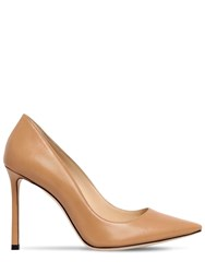 Jimmy Choo 100Mm Romy Leather Pumps Camel