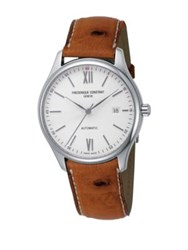 Frederique Constant Classics Index Automatic Self Wind Stainless Steel Watch Light Brown