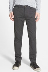 Topman Textured Skinny Fit Chinos Gray