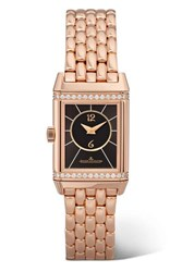 Jaeger Lecoultre Reverso Classic Duetto Small 21Mm Rose Gold And Diamond Watch