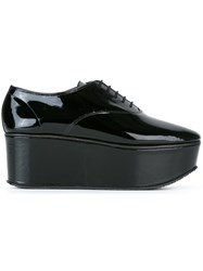 Repetto Platform Lace Up Shoes Black