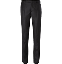 Raf Simons Charcoal Slim Fit Degrade Wool Suit Trousers Gray
