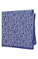 Calibrate Men's Poppy Floral Cotton Pocket Square