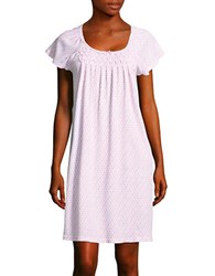 Miss Elaine Floral Night Gown White