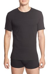 Men's Calvin Klein Stretch Cotton Crewneck T Shirt Black