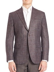 Jack Victor Collection Bamboo Textured Sportcoat Burgundy