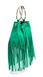 Maison Boinet Small Fringe Bucket Bag Aloe Vera