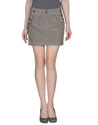 Michelle Windheuser Mini Skirts Dove Grey