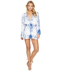 Lovers Friends Spring Blossom Romper Temple Scarf Women's Jumpsuit And Rompers One Piece White