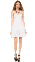 Catherine Malandrino Fit And Flare Bustier Dress Blanc