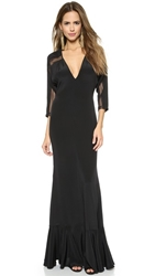 Carmella Cecilia Dolman Sleeve Maxi Dress Black