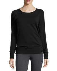 Marc Ny Performance Ruched Back Yoga Tee Black