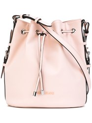 Armani Jeans Bucket Shoulder Bag Women Polyester Polyurethane One Size Pink Purple