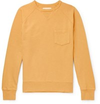 Bellerose Loopback Cotton Jersey Sweatshirt Yellow